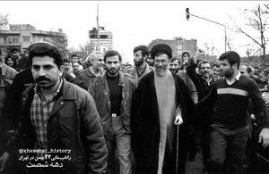 عکس/ آیتالله خامنهای در راهپیمایی ۲۲ بهمن