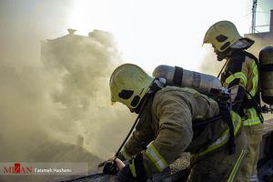 آتش سوزی گسترده در بازار تهران