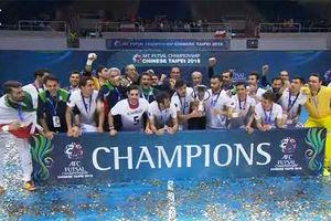 جشن قهرمانی فوتسال ایران در آسیا
