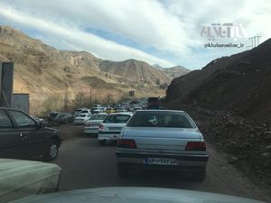 عکس/ ترافیک سنگین اتوبان رشت _ قزوین