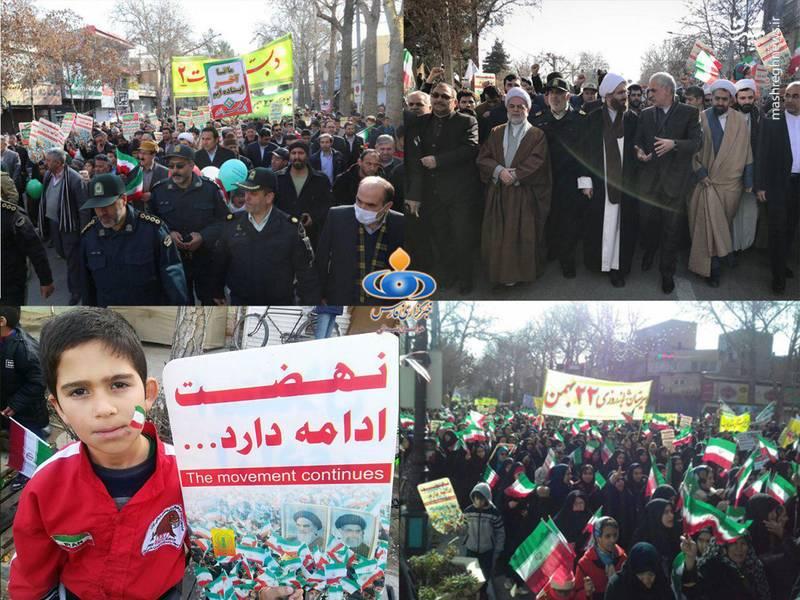 راهپیمایی 22 بهمن در خراسان شمالی