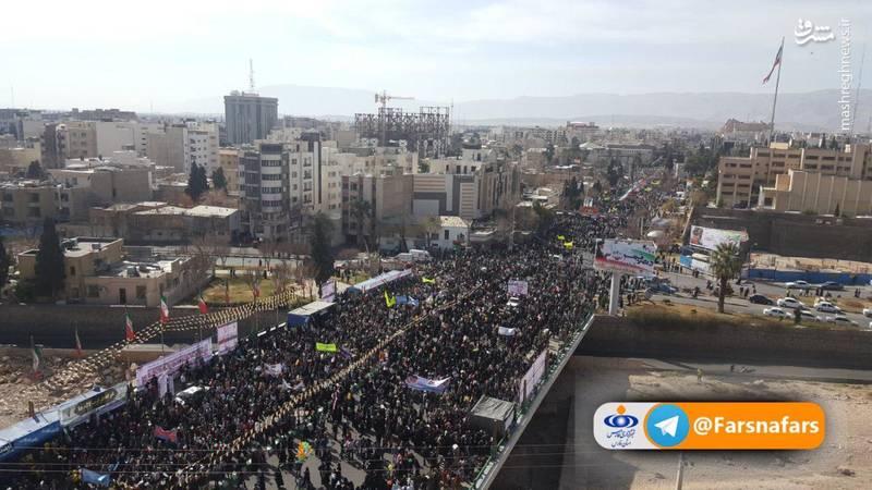 راهپیمایی 22 بهمن در شیراز