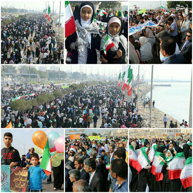 راهپیمایی 22 بهمن در بندرعباس