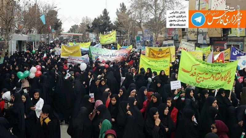 راهپیمایی 22 بهمن در نیشابور
