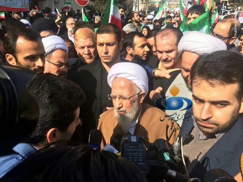 آیت الله جوادی آملی در راهپیمایی 22 بهمن