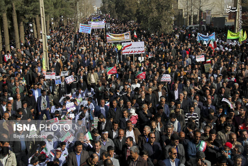 راهپیمایی 22 بهمن در کوهدشت لرستان