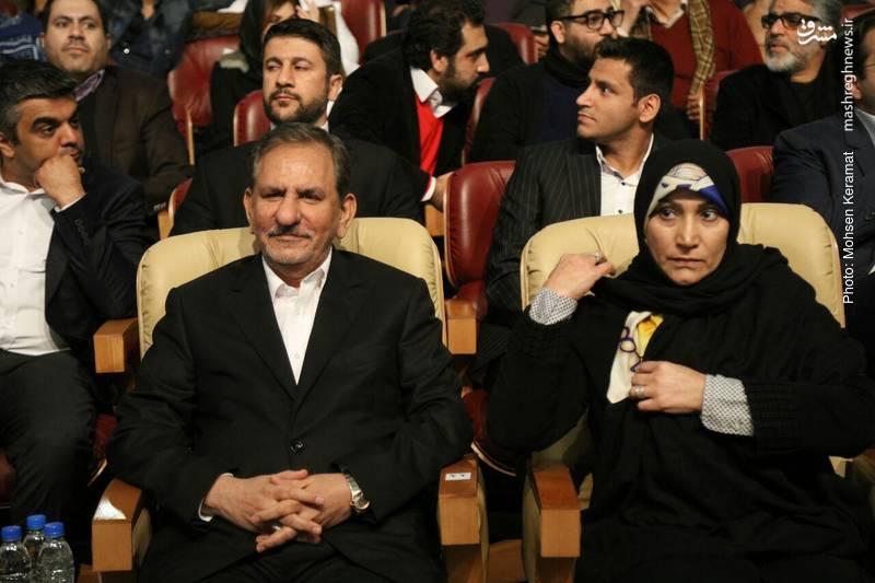 جهانگیری و همسرش در اختتامیه جشنواره فجر