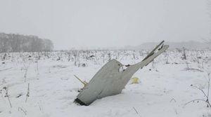 عکس/ سقوط مرگبار هواپیمای مسافربری در مسکو