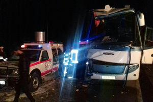 عکس/ تصادف مرگبار اتوبوس با تریلی