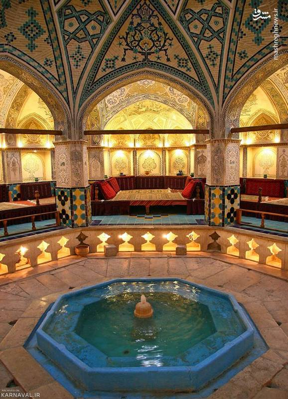 این اثر با وسعت 1102 متر مربع از 11 اسفند سال 1355 با 1351 در فهرست آثار ملی ایران قرار دارد و افتخاری برای شهر کاشان محسوب می شود