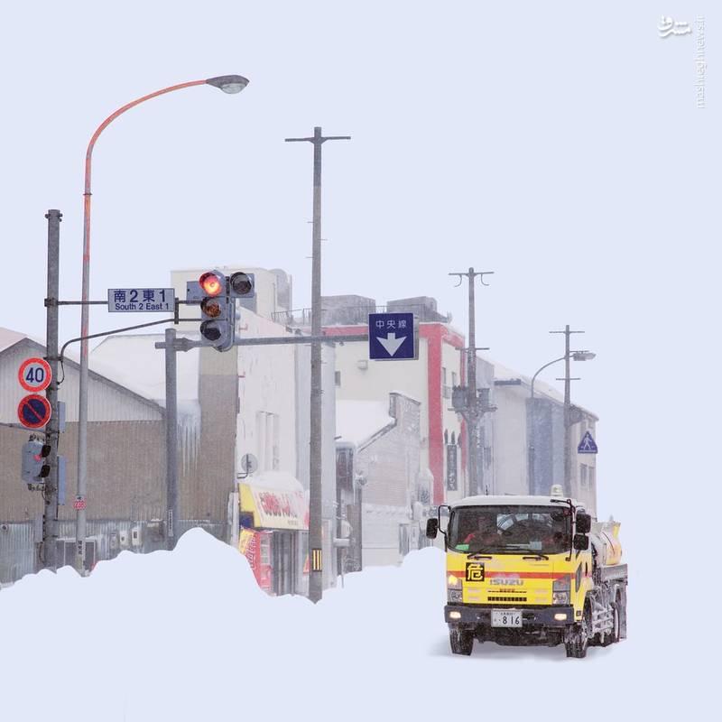 برف های سنگین هوکایدو تصاویری آبرنگ مانند برای او نمایان کرده است