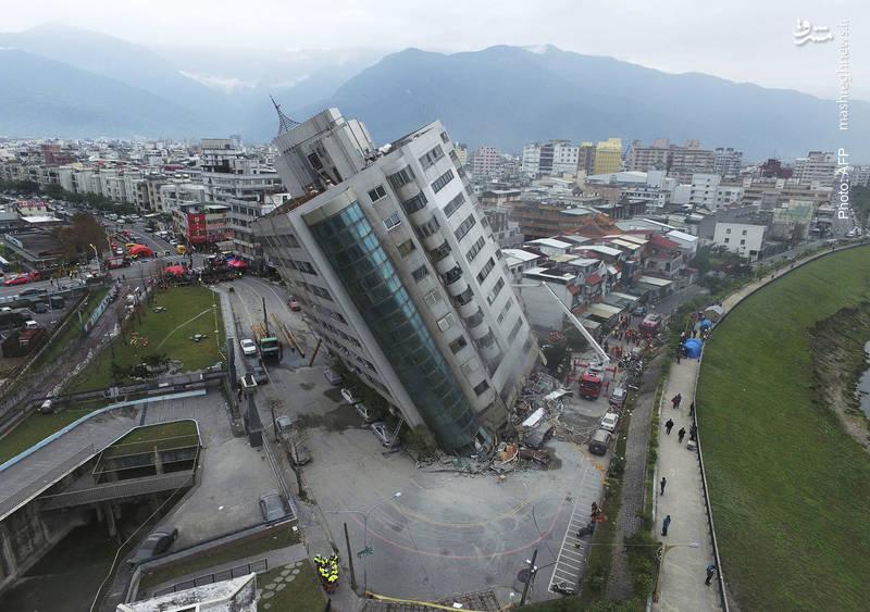 زلزله 6.4 ریشتری در تایوان با دست کم 12 کشته