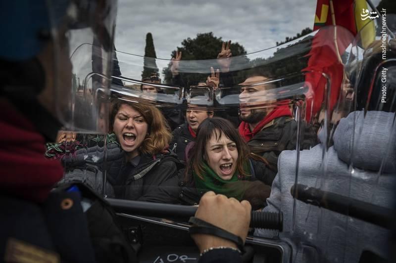 تظاهرات کُردها علیه اردوغان در رُم طی دیدار وی از واتیکان