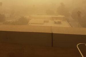 عکس/ فاجعه گرد و خاک در اهواز