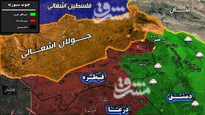 اختصاصی مشرق / صهیونیستها در کمین شاهراه ارتباطی «الحضر»/ واکنش قاطع ارتش سوریه به تحرکات تروریستها در استان قنیطره + نقشه میدانی