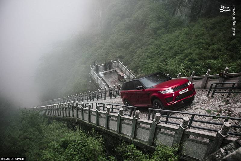 بالا رفتن از 1000 پله با خودروی هیبریدی رنج روور