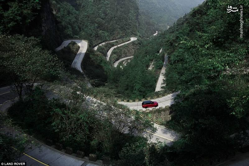 نمایی از جاده زیبای دروازه بهشت در چین
