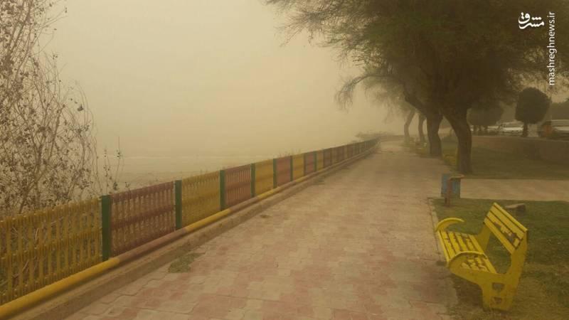رودخانه کارون در گرد و غبار محو شد!