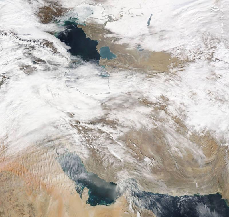 سامانه بارشی بر فراز ایران