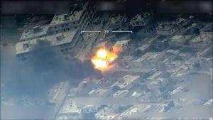 عکس/ لحظه حمله ارتش ترکیه به مقر فرماندهی کُردها