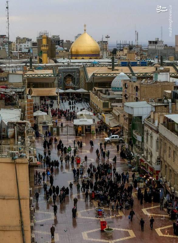 بارش باران امروز ( چهارشنبه ۲۵ بهمن ۹۶ ) نجف اشرف