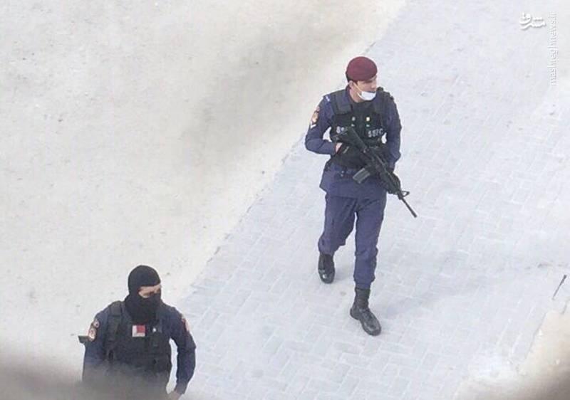نیروهای امنیتی رژیم آل خلیفه این بار مسلح به خیابانها آمدند