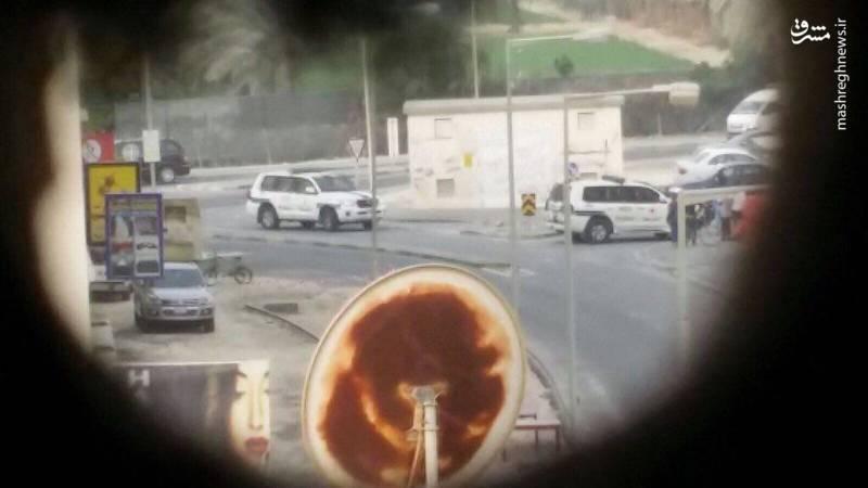 مسدود کردن مسیرهای راهپیمایی برای تظاهرکنندگان از طرف نیروهای امنیتی بحرین