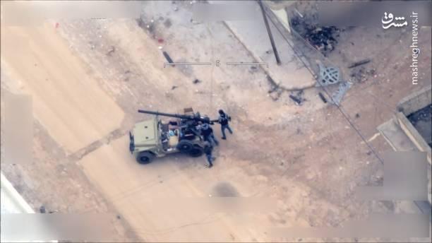 تصویربرداری پهپاد ارتش ترکیه از نیروهای کُرد در شهر عفرین سوریه