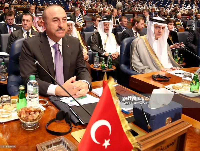 مولود چاووش اوغلو (وزیر امور خارجه ترکیه)-عادل الجبیر(وزیر خارجه عربستان)