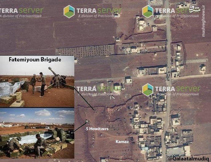 شناسایی محل استقرار توپخانه فاطمیون با استفاده از تصاویر زمینی