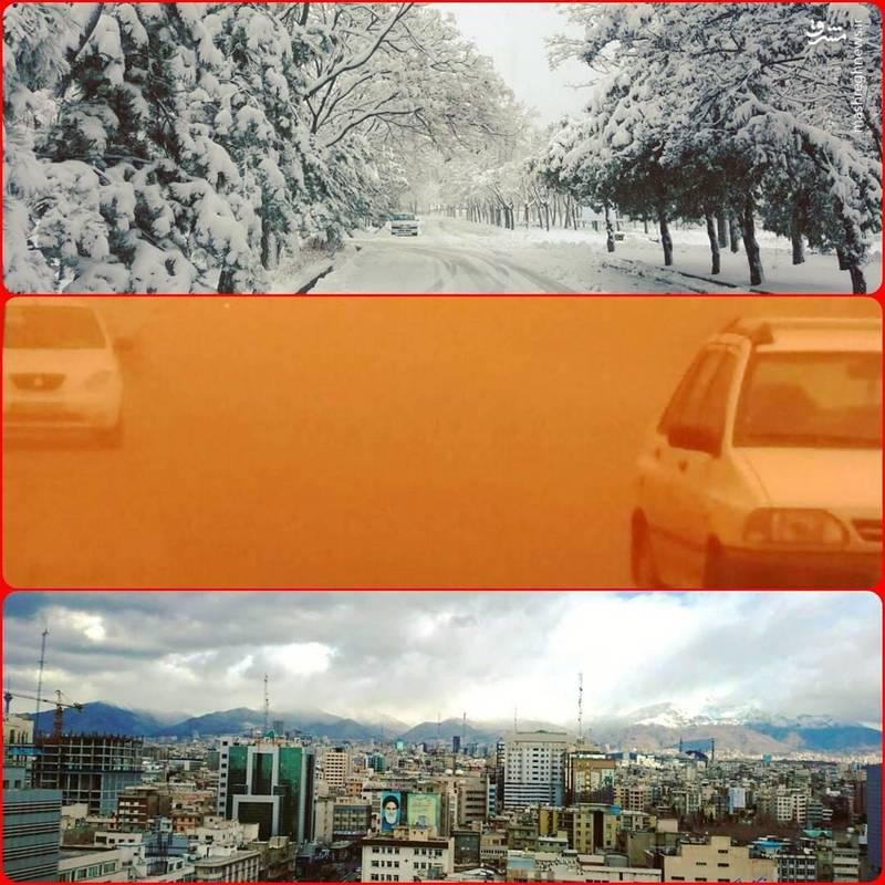 برف در اردبیل، گردو غبار در میبد و هوای سالم در تهران