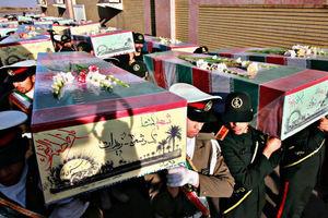 عکس/ ورود پیکر مطهر ۳۰ شهید گمنام به وطن