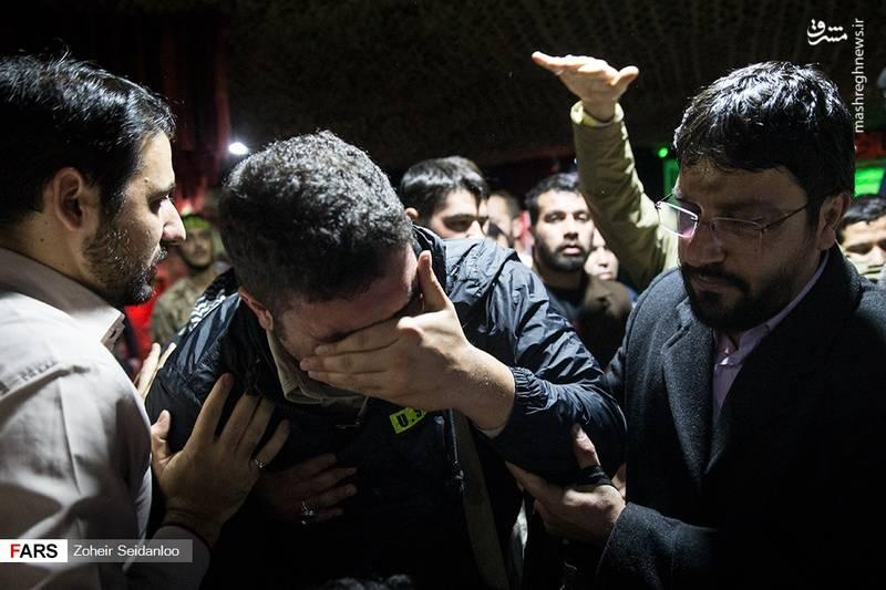 مراسم وداع با پیکر شهید مدافع حرم سیداحسان میرسیار