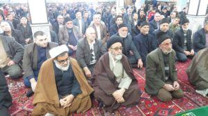 حضور سرزده آلهاشم در نماز جمعه شهر شربیان +عکس
