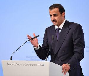 عکس/ سخنرانی امیر قطر در کنفرانس امنیتی مونیخ