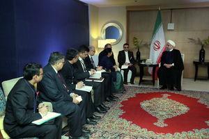 عکس/ دیدار روحانی با وزیر خارجه هند
