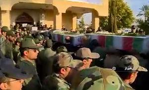 فیلم/ استقبال از پیکر 25 شهید دفاع مقدس در شیراز