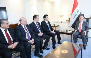 عکس/ دیدار بارزانی و نخستوزیر عراق