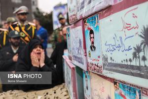 عکس/ تشییع ۱۴ شهید دفاع مقدس ناجا
