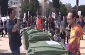 فیلم/ تظاهرات علیه نتانیاهو در مرکز تل آویو