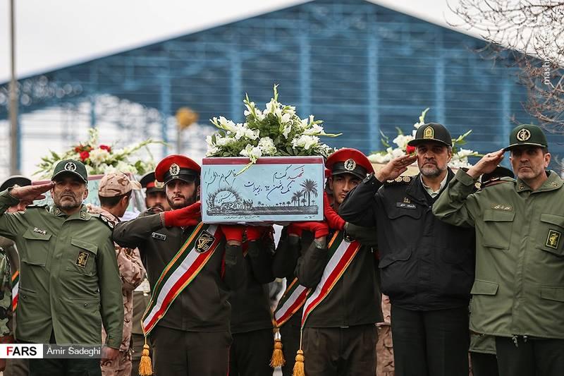 مراسم استقبال از پیکر مطهر ۱۱ شهید در تبریز