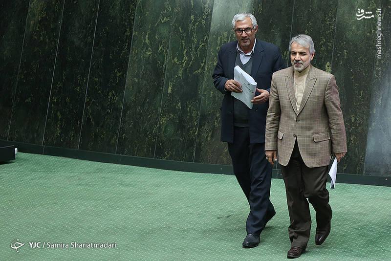 حضور نوبخت در جلسه علنی مجلس شورای اسلامی و بررسی بودجه 97