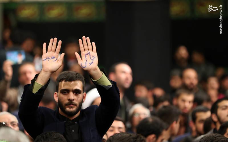 مراسم عزاداری ایام فاطمیه با حضور رهبر انقلاب