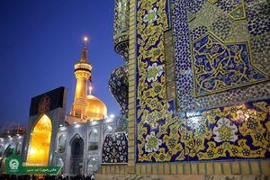 عکس/ حرم امام رضا (ع) سیاه پوش شد