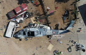عکس/ سقوط مرگبار هلیکوپتر امداد