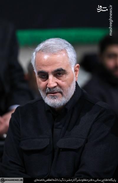 عکس/ سردار سلیمانی در عزاداری فاطمیه در حسینیه امام خمینی