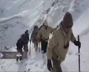 فیلم/ تلاش امدادگران در برف برای یافتن هواپیما