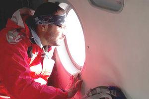 فیلم/ جستجو بالگرد هلال احمر در رشته کوه دنا