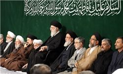 اقامه عزای شب شهادت حضرت زهرا(س) در حضور رهبر انقلاب