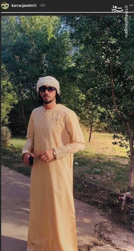 عکس/ کرار جاسم با لباس عربی